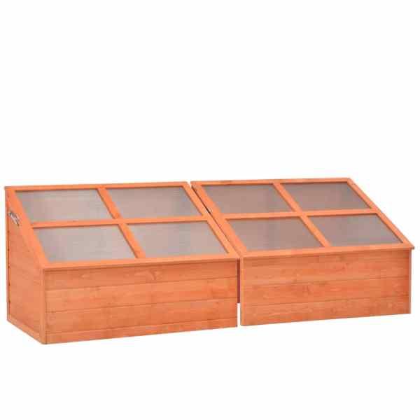 vidaXL Seră din lemn, 180 x 57 x 62 cm