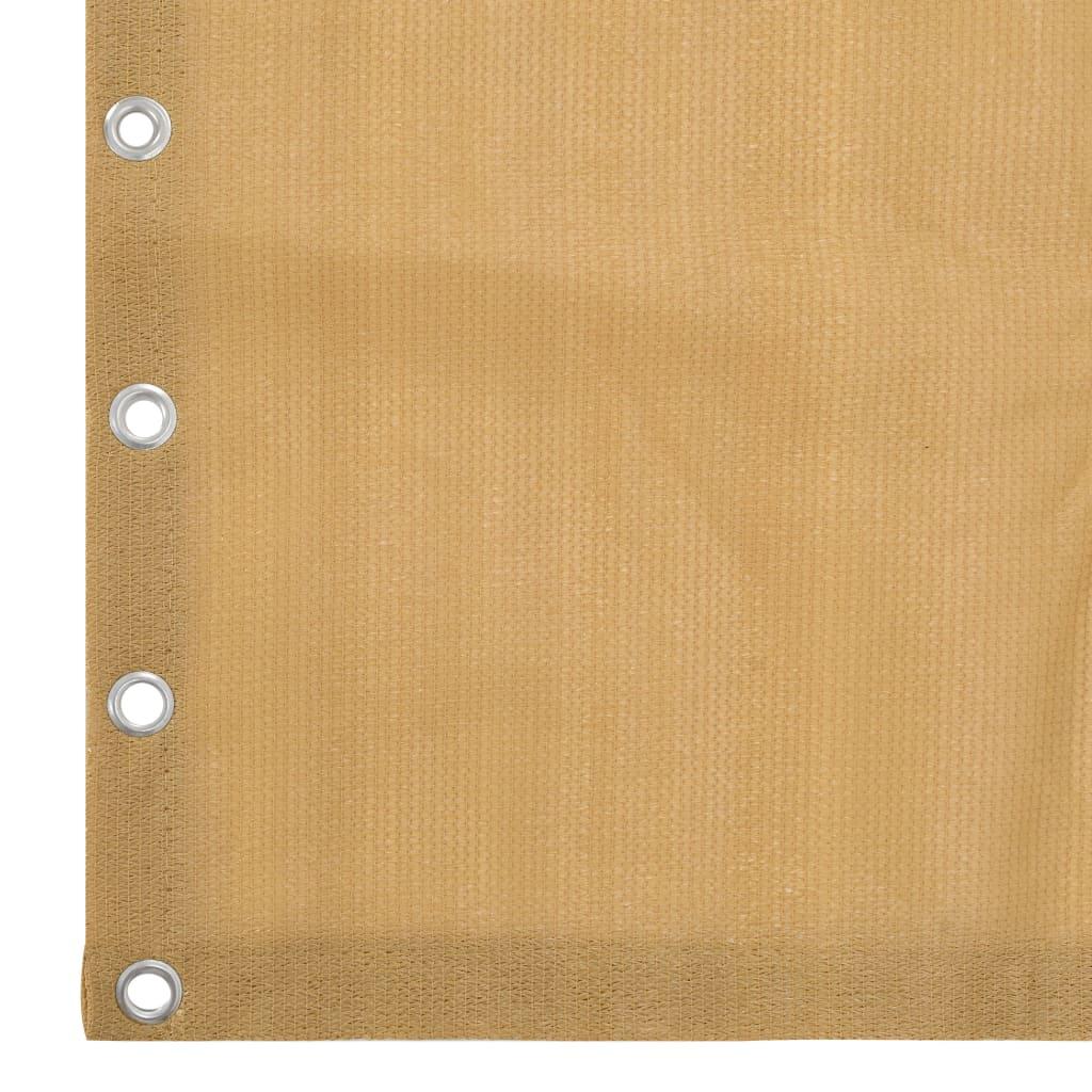 vidaXL Paravan de balcon suspendat, bej, 140 x 230 cm, HDPE