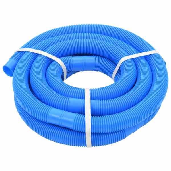 Furtun de piscină cu cleme, albastru, 38 mm, 6 m
