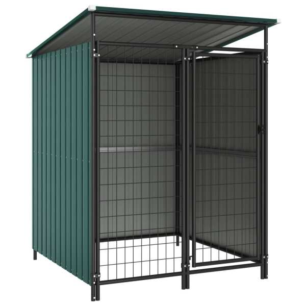 vidaXL Padoc pentru câini de exterior, 133 x 133 x 164 cm