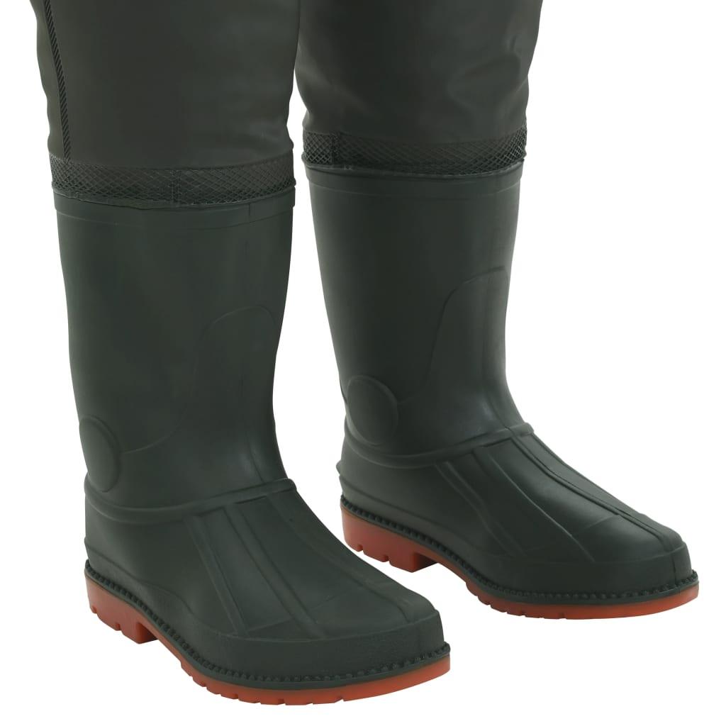 Pantaloni de vânătoare cu cizme, verde, mărime 39