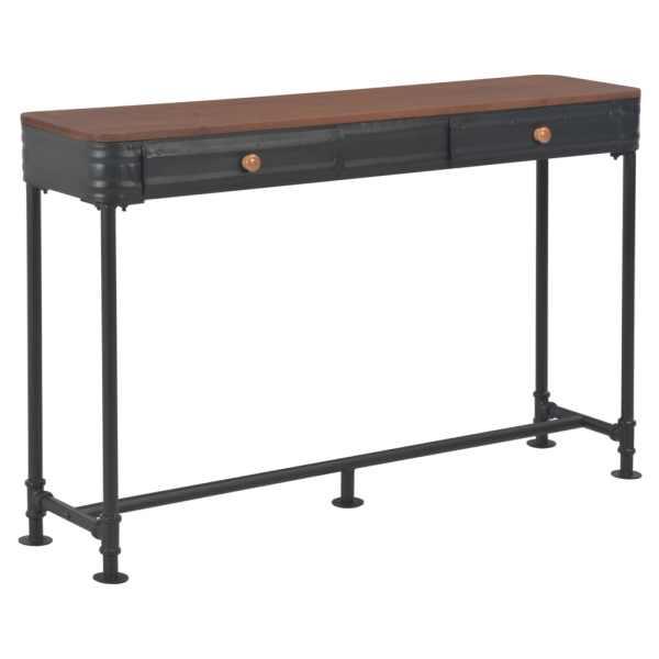 vidaXL Masă consolă cu 2 sertare, 120 x 30 x 75 cm, lemn masiv de brad