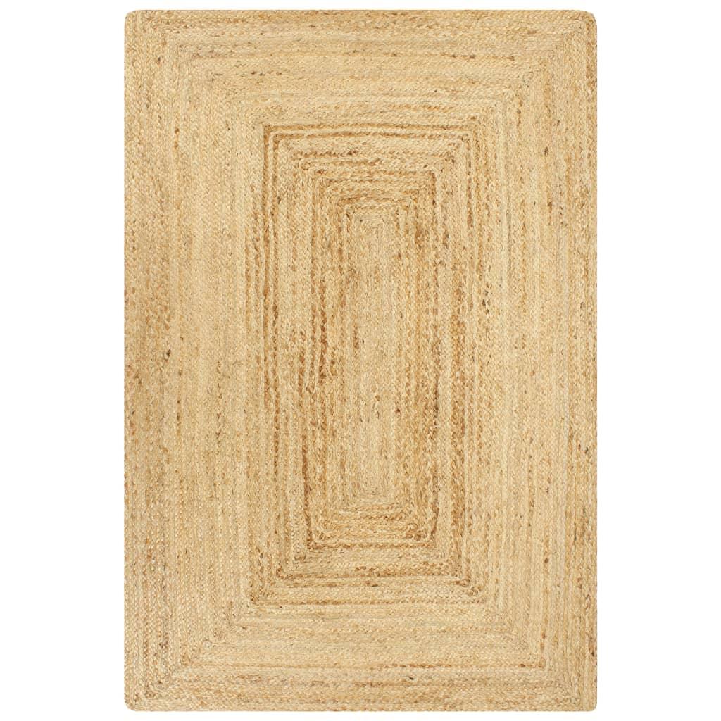 vidaXL Covor manual, natural, 160 x 230 cm, iută