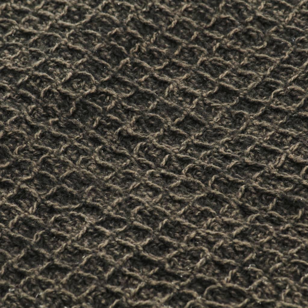 Pătură decorativă, antracit/maro, 160 x 210 cm, bumbac