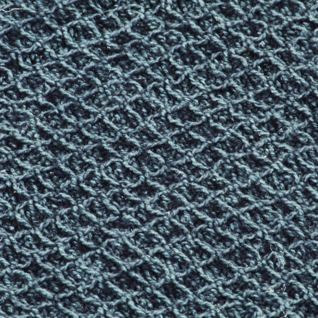 vidaXL Pătură decorativă, albastru indigo, 125 x 150 cm, bumbac