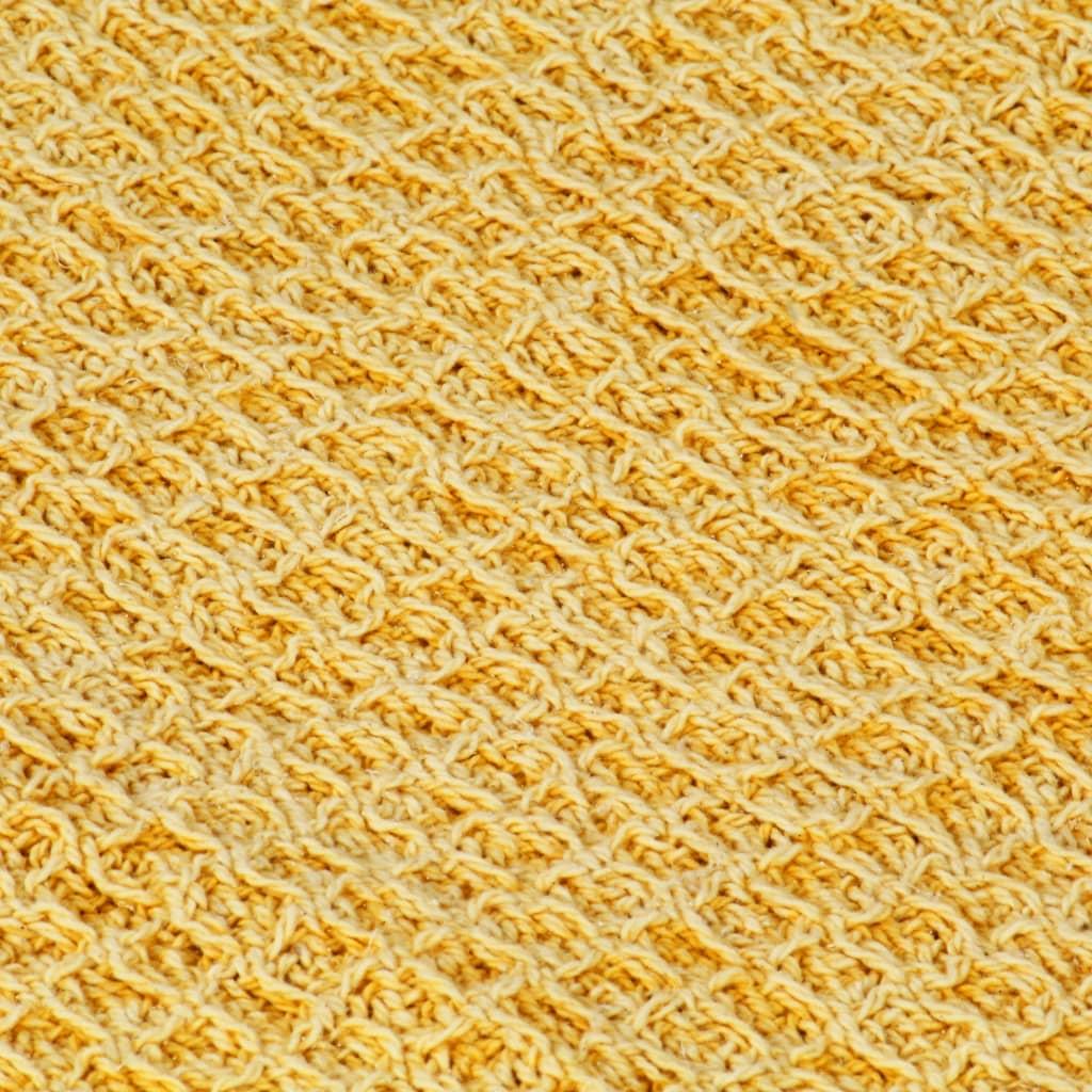 vidaXL Pătură decorativă, galben muștar, 160 x 210 cm, bumbac