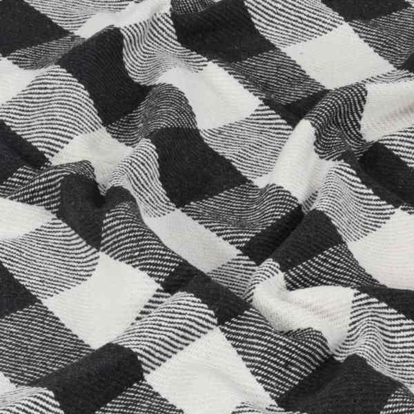vidaXL Pătură decorativă, antracit, 125 x 150 cm, bumbac, carouri