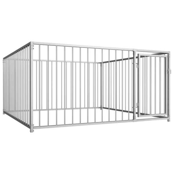 vidaXL Padoc de câini pentru exterior, 200 x 200 x 100 cm