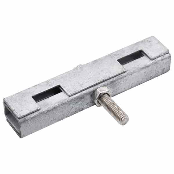 Conector în formă de U grilaj grădină, 10 seturi, argintiu