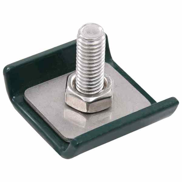 Conector grilaj din plasă, verde, 25 seturi