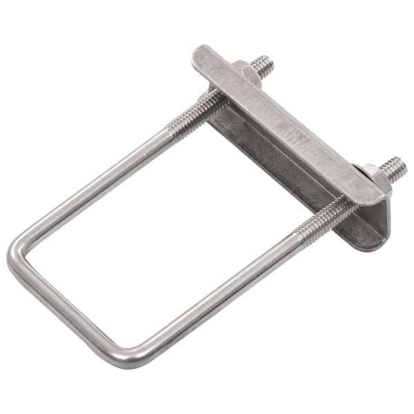 Clemă de prindere tip U pentru stâlp gard, 60×40 mm, 25 seturi