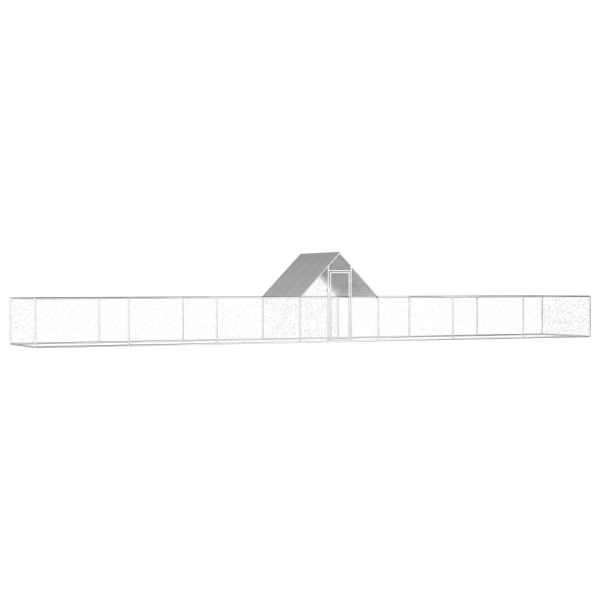 vidaXL Coteț de găini, 14 x 2 x 2 m, oțel galvanizat