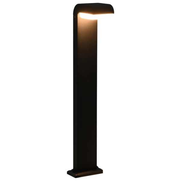 vidaXL Lampă LED pentru exterior, negru, 9 W, oval