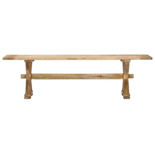 Bancă de hol, 160 x 35 x 45 cm, lemn masiv de mango