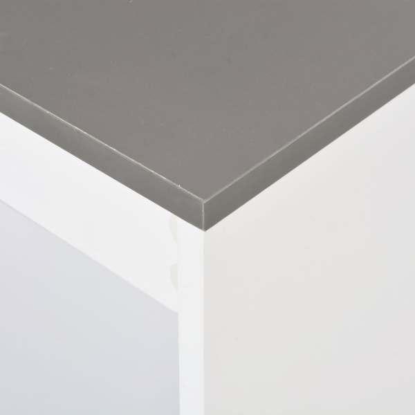 Masă bar cu rafturi, alb, 110x50x103 cm