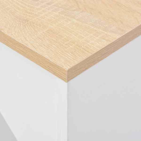 Masă de bar cu raft mobil, alb, 138x40x120 cm