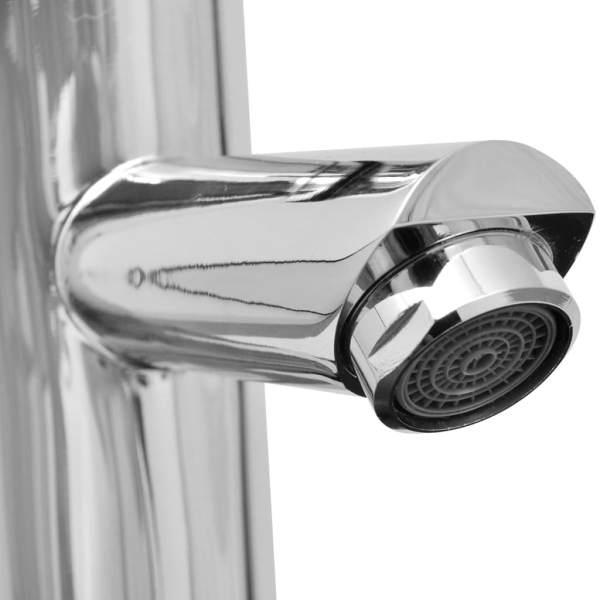 vidaXL Baterie baie robinete cu monocomandă, 2 buc., crom