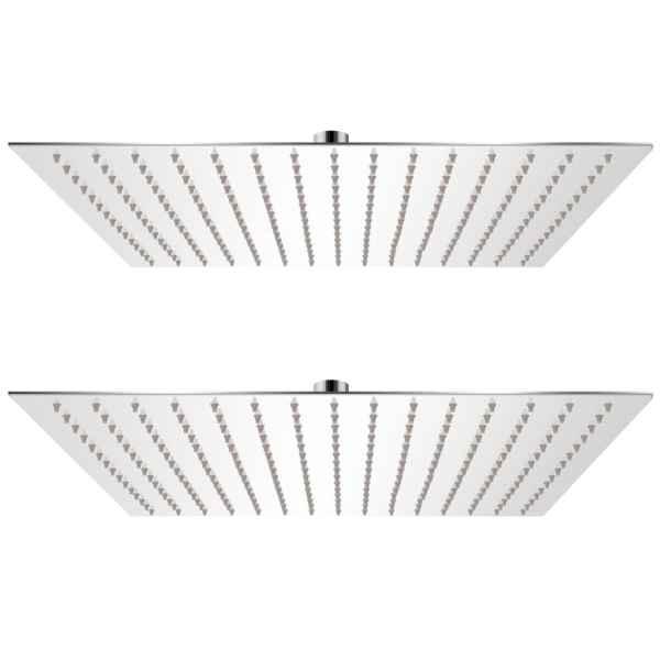 vidaXL Cap de duș tip ploaie, 2 buc., 40 x 40 cm, oțel inoxidabil
