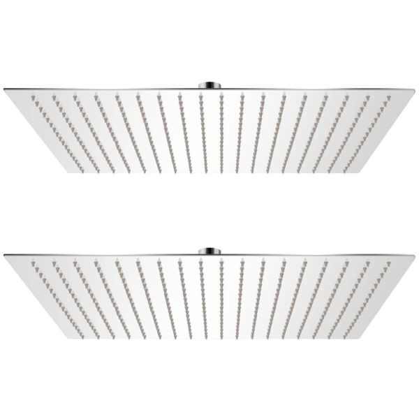 vidaXL Cap de duș tip ploaie, 2 buc., 50 x 50 cm, oțel inoxidabil