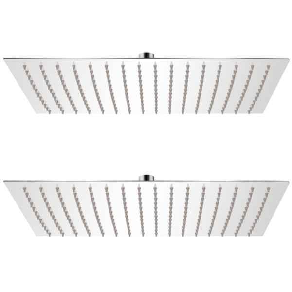 vidaXL Cap de duș tip ploaie, 2 buc., 30 x 40 cm, oțel inoxidabil