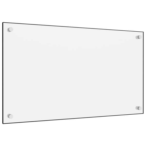 Panou antistropi bucătărie, alb, 70×40 cm, sticlă securizată