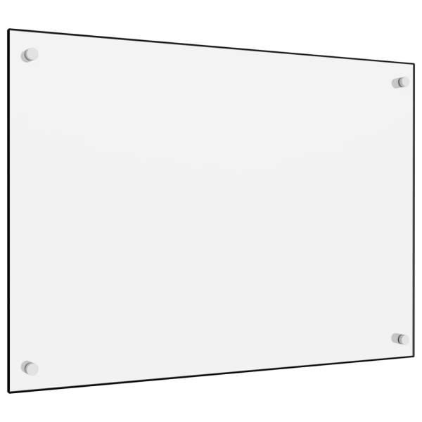 Panou antistropi bucătărie, alb, 70×50 cm, sticlă securizată