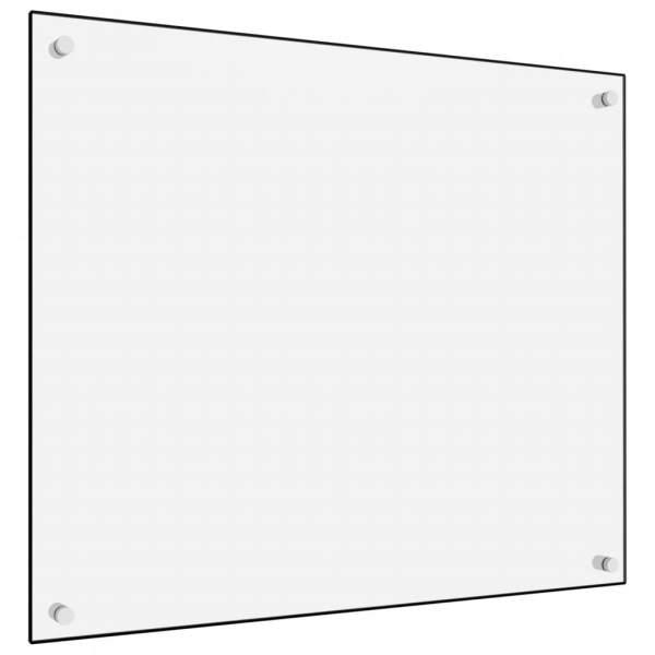 Panou antistropi bucătărie, alb, 70×60 cm, sticlă securizată