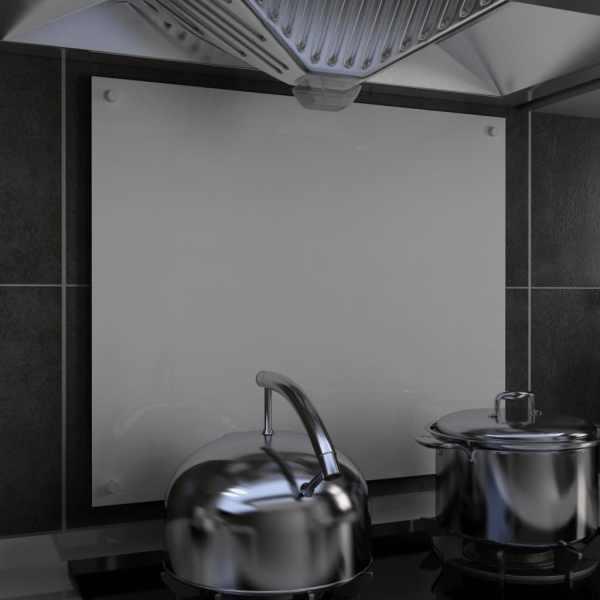 vidaXL Panou antistropi bucătărie, alb, 70×60 cm, sticlă securizată