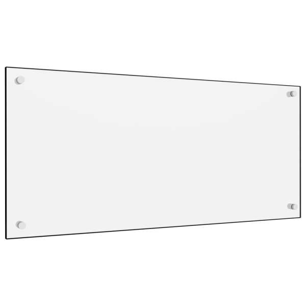 vidaXL Panou antistrop bucătărie, alb, 90×40 cm, sticlă securizată