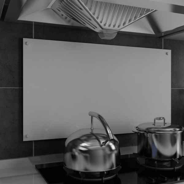 vidaXL Panou antistropi bucătărie, alb, 90×50 cm, sticlă securizată