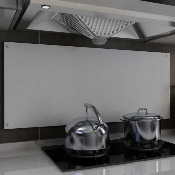 vidaXL Panou antistropi bucătărie, alb, 120×50 cm, sticlă securizată