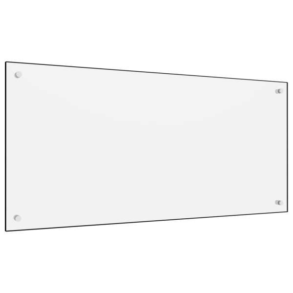 vidaXL Panou antistropi bucătărie, alb, 120×60 cm, sticlă securizată