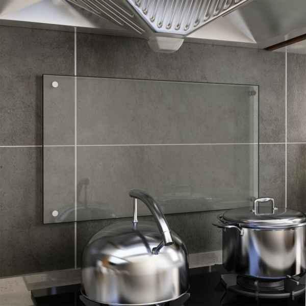 vidaXL Panou antistropi bucătărie transparent 70×40 cm sticlă securiz.