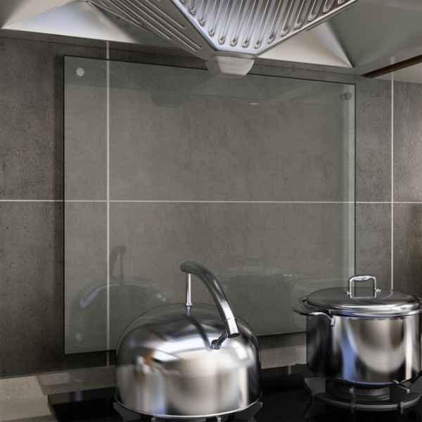 vidaXL Panou antistropi bucătărie transparent 70x60cm sticlă securiz.