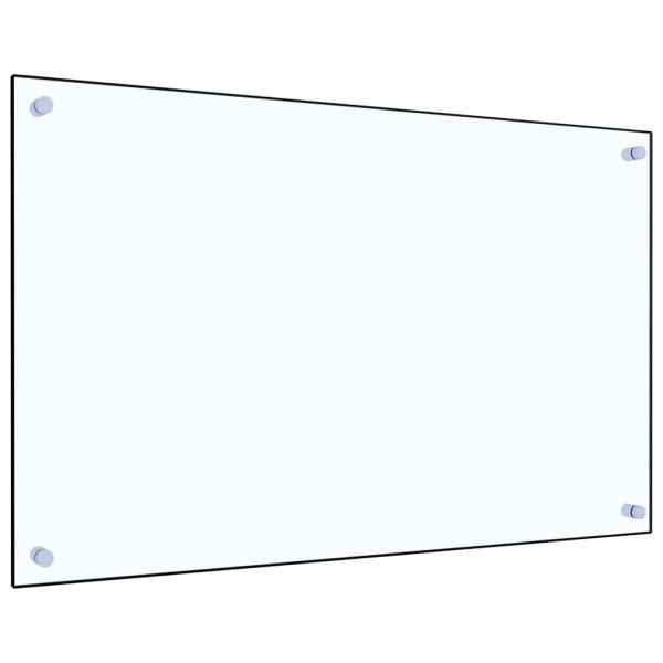 Panou antistropi bucătărie transparent 80×50 cm sticlă securiz.