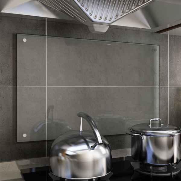 vidaXL Panou antistropi bucătărie transparent 80×50 cm sticlă securiz.