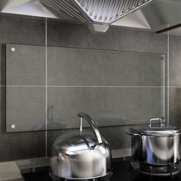 vidaXL Panou antistropi bucătărie transparent 90×40 cm sticlă securiz.