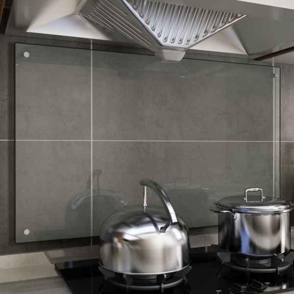 vidaXL Panou antistropi bucătărie transparent 100x60cm sticlă securiz.