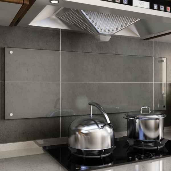 vidaXL Panou antistropi bucătărie transparent 120x40cm sticlă securiz.