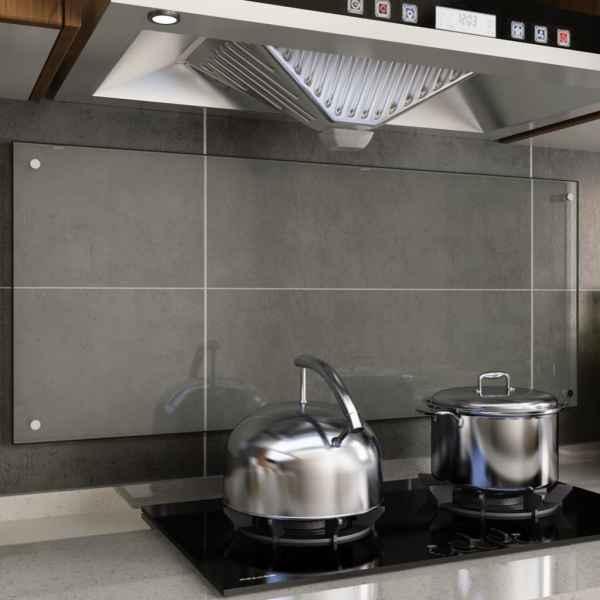 vidaXL Panou antistropi bucătărie transparent 120x50cm sticlă securiz.