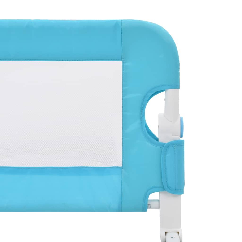Balustradă protecție pat copii, albastru, 120×42 cm, poliester