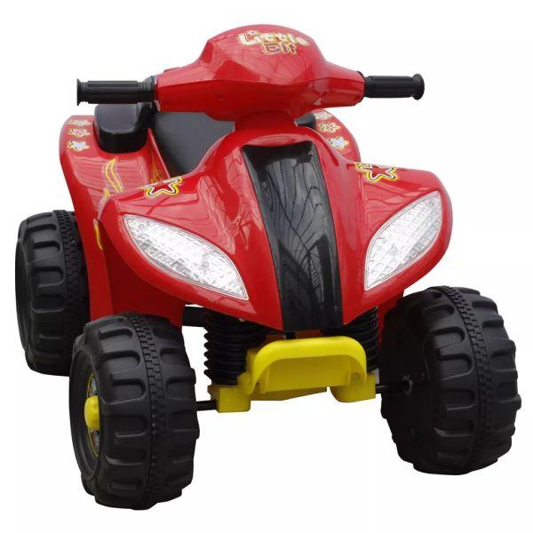 ATV electric copii roșu și negru