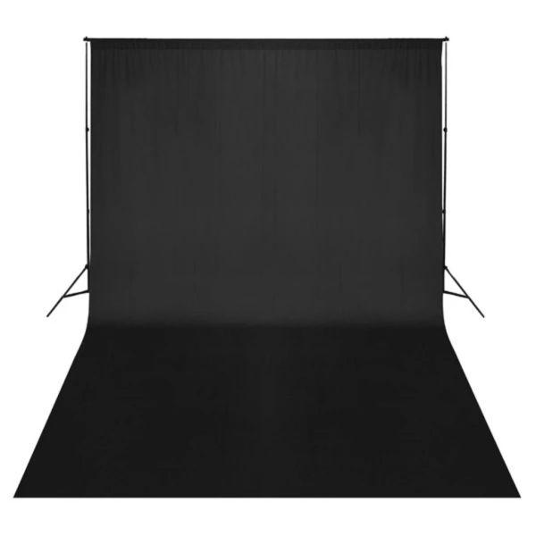 vidaXL Fundal negru, 500 x 300 cm