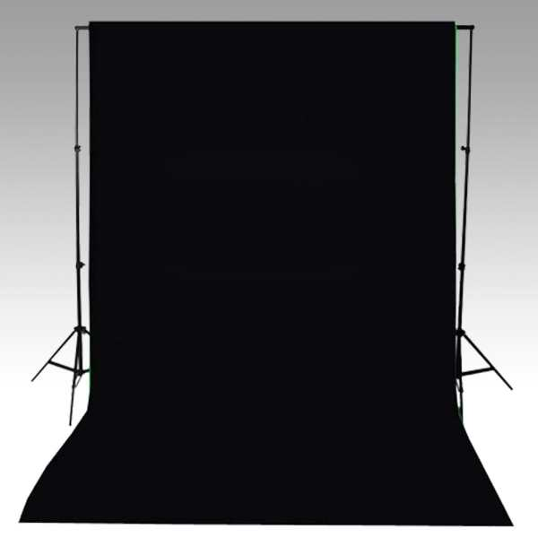 vidaXL Fundal negru, 600 x 300 cm