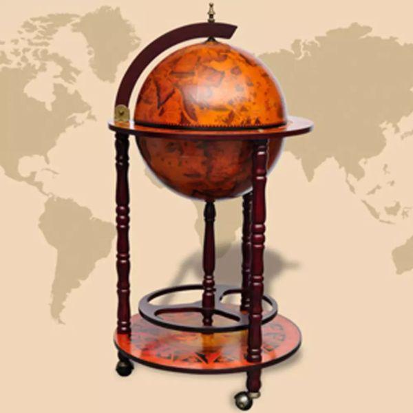 vidaXL Bar tip glob pământesc stativ sticle de vin, lemn de eucalipt