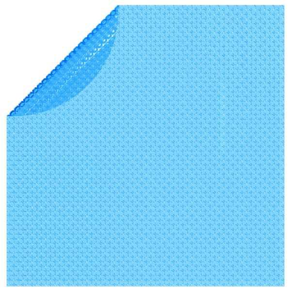 Folie solară plutitoare piscină, rotundă, PE, 381 cm, albastru