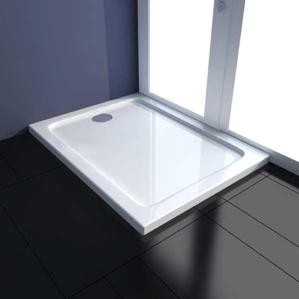 vidaXL Cădiță de duș dreptunghiulară din ABS, 70 x 90 cm