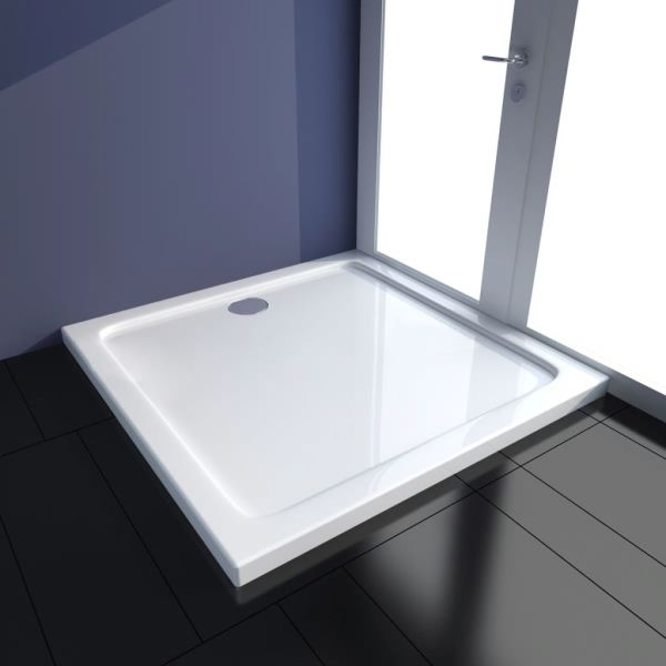vidaXL Cădiță de duș pătrată din ABS, 90 x 90 cm