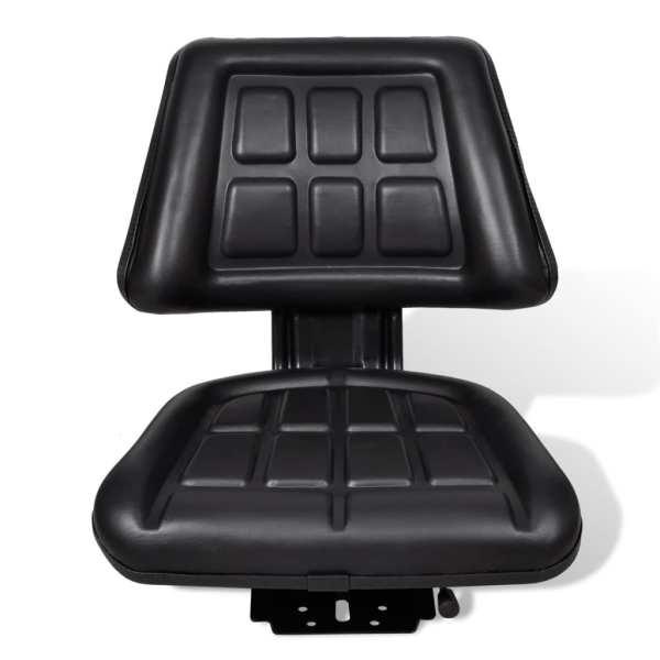 vidaXL Scaun de tractor cu spătar, negru