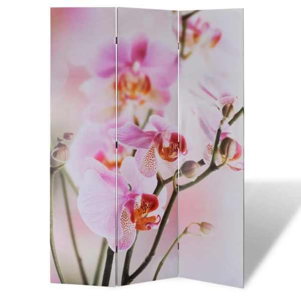 vidaXL Paravan de cameră pliabil, 120 x 170 cm, flori